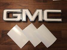07-17 GMC Sierra Yukon GLOSS WHITE Front Grill / Rear Emblem Overlay Kit Decal