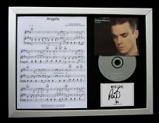 ROBBIE WILLIAMS+SIGNED+QUALITY FRAMED+ANGELS=100% AUTHENTIC+EXPRESS GLOBAL SHIP