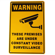 3x Warning Security Sign Camera CCTV 200x300mm Metal Under Surveillance Quality