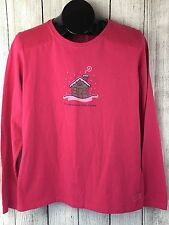 Woman's Life Is Good Snow Place Like Home Sz M Pink New