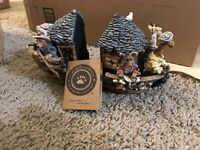 noahs ark boyds collection ceramic bookends 1999 Rare
