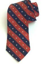 Used Pure Silk Brooks Brothers USA Made Stars & Stripes Mens Necktie Tie