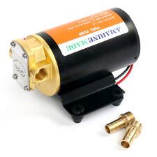 12v Scavenge Impellor Gear Pump- Water Diesel Fuel Scavenge Oil Transfer (Black)