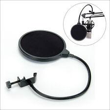 New Studio Recording Microphone Mic Wind Screen Pop Filter Mask Shield Black