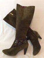 Dettagli su FRATELLI Rossetti stivali al ginocchio Marrone Scuro in Pelle Scamosciata Misura 39.5 mostra il titolo originale