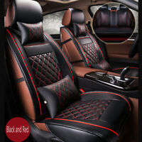 High Quality Black&Red Luxury PU Leather Ford Focus Full Seat Cover Protect Pad