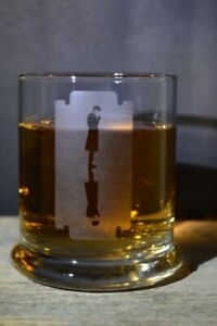 Etched Whiskey glassware Peaky Blinders Large Razor Great Gifts 12 Oz