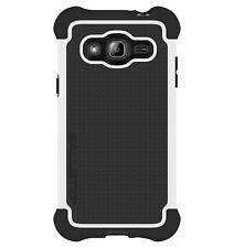Ballistic Samsung Galaxy J3 (2016) - Black/White Tough Case with Holster