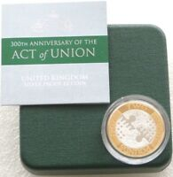 2007 Royal Mint Act of Union 300th Anniv £2 Two Pound Silver Proof Coin Box Coa
