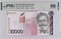Slovenia 10000 Tolarjev 2003 P 34 a Gem UNC PMG 66 EPQ High