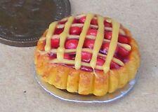 1.12 Apple tarte treillis doll house miniature accessoire de cuisine boulangerie dessert D12