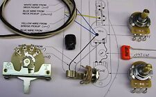 Electrics Upgrade Kit for Tele with CRL Switch CTS Solid Shaft Pots O/Drop etc.