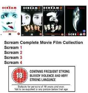 SCREAM COMPLETE MOVIE 1-4 DVD COLLECTION PART 1 2 3 4 FILM Original UK Release
