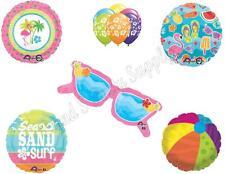 SUNGLASSES Happy Birthday Balloons Decoration Supplies Summer Luau Flamingo