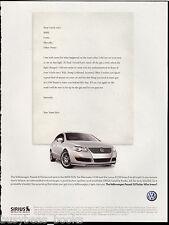 2007 VOLKSWAGEN PASSAT Turbo advertisement, VW Passat 2.0 Turbo