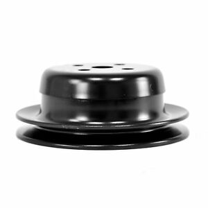 65 66 67 68 Ford Mustang Water Pump Pulley, 6 Cyl. Single Groove, Black