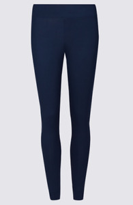 Ex M*S 2 PACK High Waisted Navy Leggings Size 8 - 22 (W3.16)