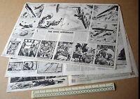War News During the Blitzkrieg Centrespread 1940 Vintage Homefront Magazine