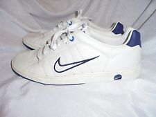 NIKE BRS MEN'S WHITE LEATHER LACE UP TRAINERS SIZE UK 10 EU 44 VGC
