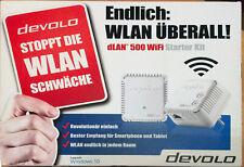 DEVOLO 09083 dLAN 500 WiFi Powerline Starter-Kit WLAN mit 500 MBit/s -