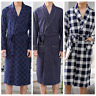 Mens Bathrobe Luxury Soft Lightweight Dressing Gown Sleepwear Robe Summer