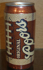 Bottom Opened Pigskin Football Coors Beer Can Golden Colorado Tall 12 Ounce