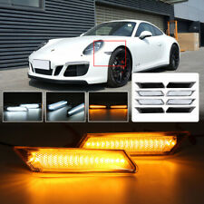 Pair LED Side Markers Lights Indicator For Porsche 911 997 987 Boxster Cayman