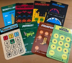Original Overlays for Intellivision games from Imagic,Activision,Coleco,Dextell