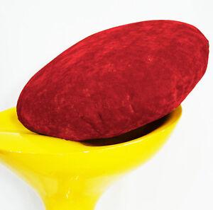 ma04n Red Plain Round Velvet Style Cushion Cover/Pillow Case*Custom Size*