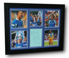 More details for framed dennis wise chelsea hand signed autograph photo mount display coa