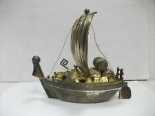 Silver Treasure Ship of Japan. #307g/ 10.81oz. Japanese antique.