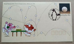 1994 Australia World Table Tennis Championships FDC PSE (Pre Stamped Envelope)