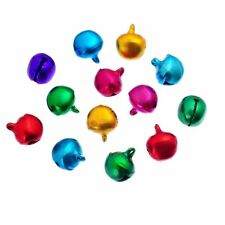 Approx 200 Small Mixed Colour Aluminium Christmas Jingle Bells Charms 6mm Crafts