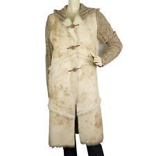 Passport Beige Warm Winter Women's Wool Faux Sheepskin Jacket Coat size S