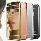 Coque Luxury Plating Mirror Aluminium Acrylic Back Apple Iphone 4 5 5C 6 7 8 X