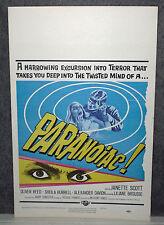 PARANOIAC original ROLLED 1963 HAMMER movie poster OLIVER REED/JANETTE SCOTT