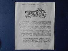 Ancienne Publicité Ancien Feuillet Magnat Debon Moto Motocyclette Tarif 1935