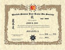 Jeet Kune Do Custom certificate 11x14