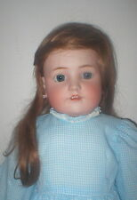 "30""Germany Heinrich Handwerck bisque child mkd compo & wood body human hair wig"