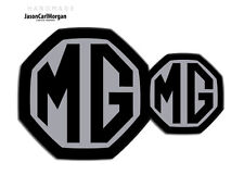 MG ZS LE500 MK2 Front & Rear Insert Badge Logo Set 59mm/95mm Styled Black/Silver