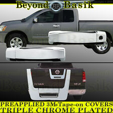 Fits 2004-2012 NISSAN TITAN Extended Cab Chrome Door Handle+Tailgate COVERS trim