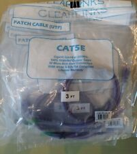 Clearlinks C5E-Pu-03-M Cat5E Molded Patch Cable, Purple 3'