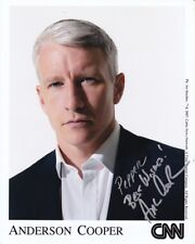 ANDERSON COOPER Autographed Signed CNN Photograph - To Pepper
