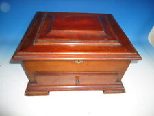 Antique mahogany Mira music box case (or box)