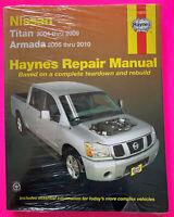 Haynes Repair Manual Nissan Titan (2004-2009) Armada (2005-2010) Haynes #72070