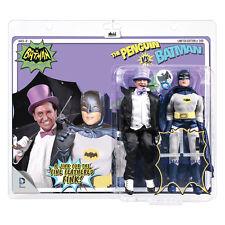 Batman 66 Classic TV Show Mego Style 8 Inch Figure Two-Packs: Penguin VS. Batman