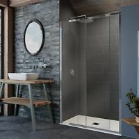 KUDOS PINNACLE8 STRAIGHT SLIDING DOOR SHOWER ENCLOSURE 8MM GLASS BATHROOM PANEL
