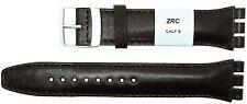 ZRC 19mm (22mm) Tamaño Correa De Cuero Compatible Para Reloj Swatch ® marrón 6431903