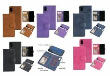 IPhone X  leather wallet case detachable magnetic phone holder in 5 colours