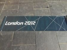 LONDON Paralympic Olympics 2012 Flag Sign Banner Olympic Memorabilia Black